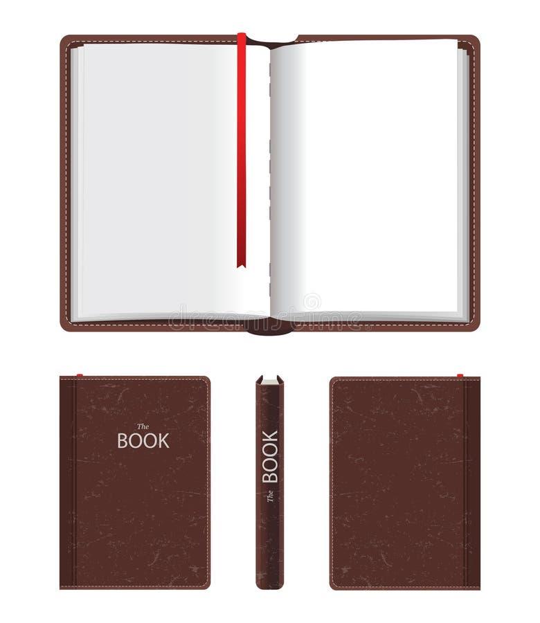 Otwarta i zamknięta książka ilustracji