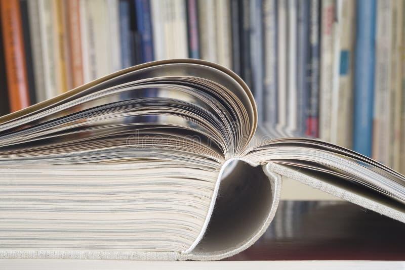 Otwarta książka, zamyka up obraz royalty free