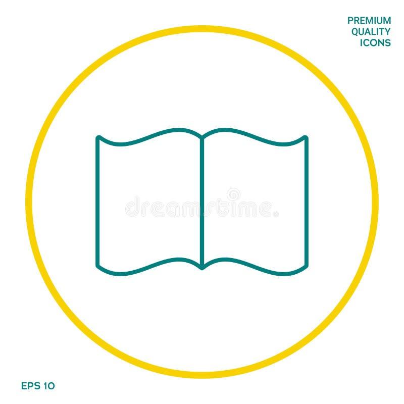 Otwarta książki linii ikona Graficzni elementy dla twój projekta ilustracja wektor