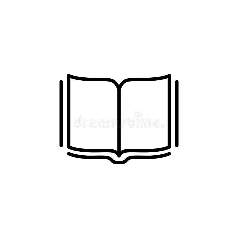 Otwarta książki linii ikona wektor ilustracji
