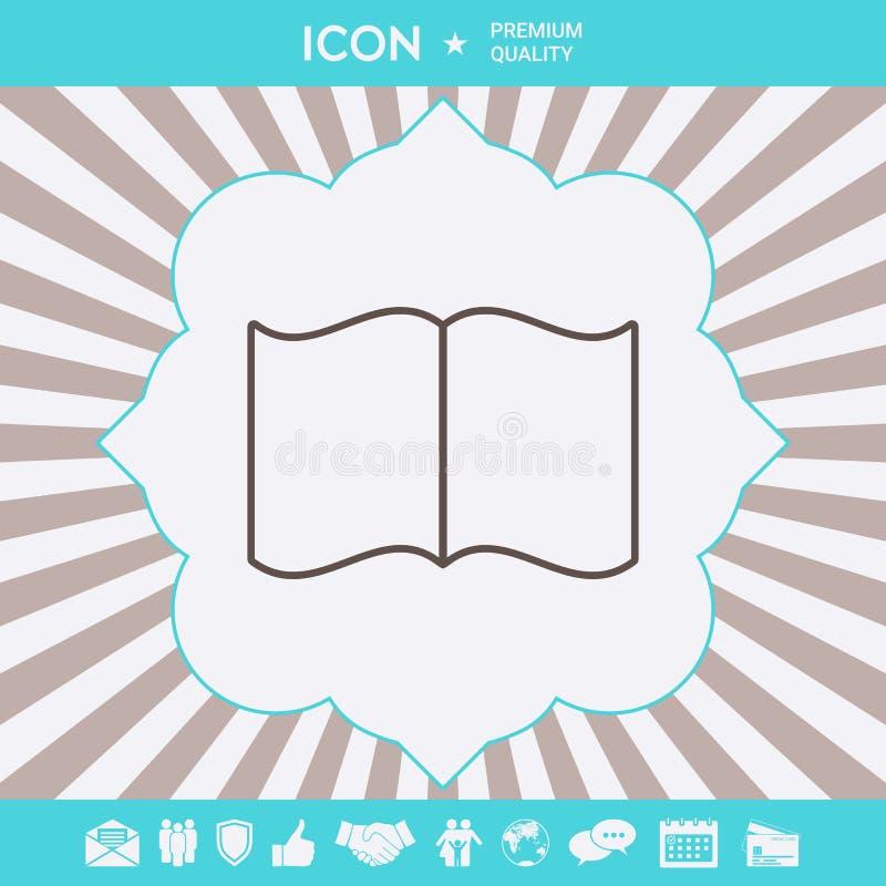 Otwarta ksi??ki linii ikona Graficzni elementy dla tw?j projekta royalty ilustracja