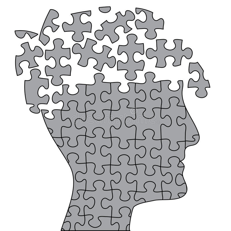 otwarta mózg łamigłówka ilustracja wektor