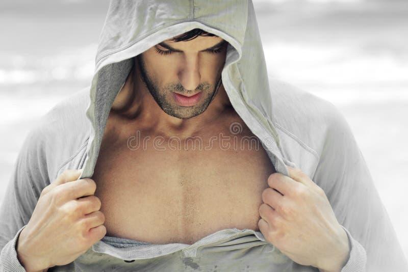 otwarta mężczyzna koszula zdjęcia stock
