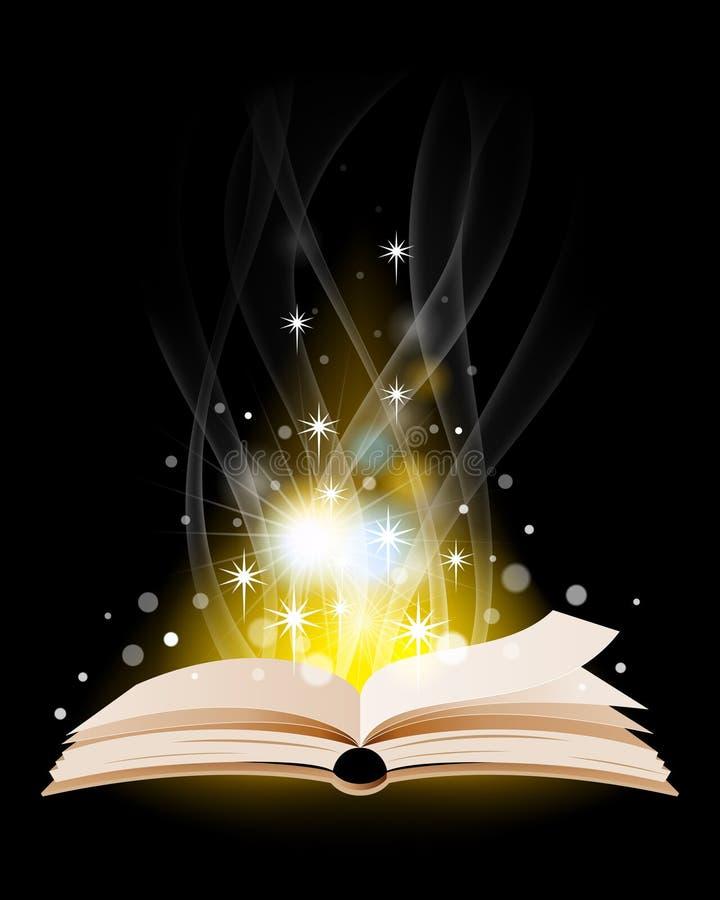 Otwarta magii książka royalty ilustracja