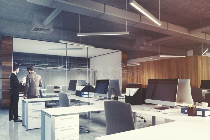Otwarta przestrzeń pokoju konferencyjnego i biura strona, ludzie obraz royalty free