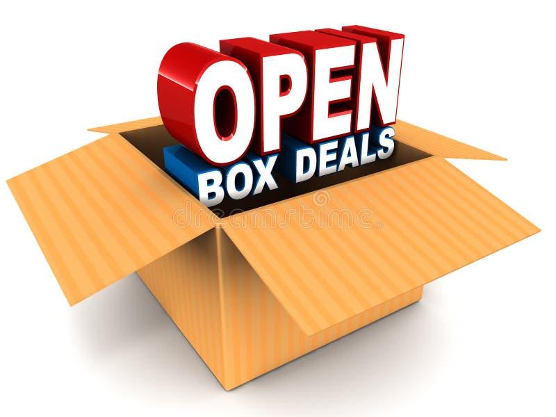 Otwarta pudełko transakcja ilustracja wektor