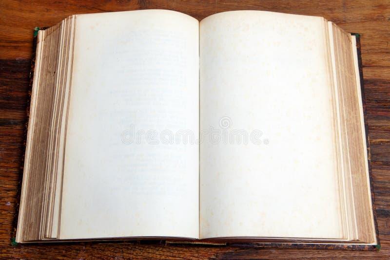 Otwarta puste miejsce książka obrazy royalty free