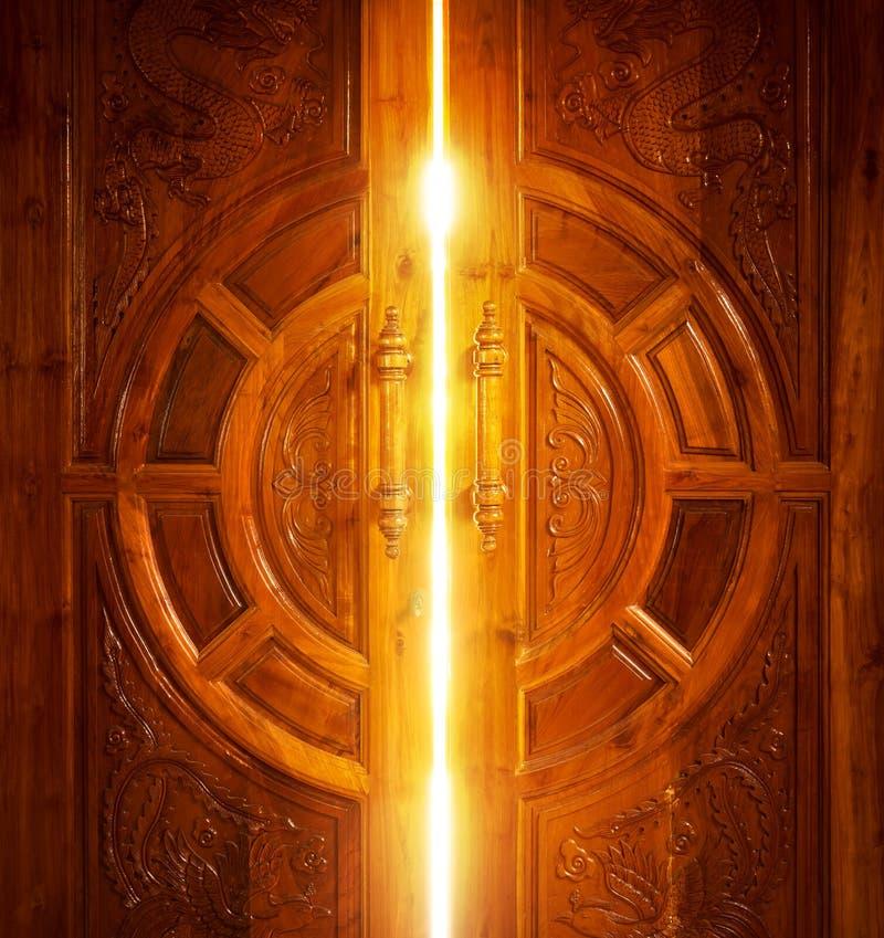Otwarte Drzwi światło obrazy royalty free