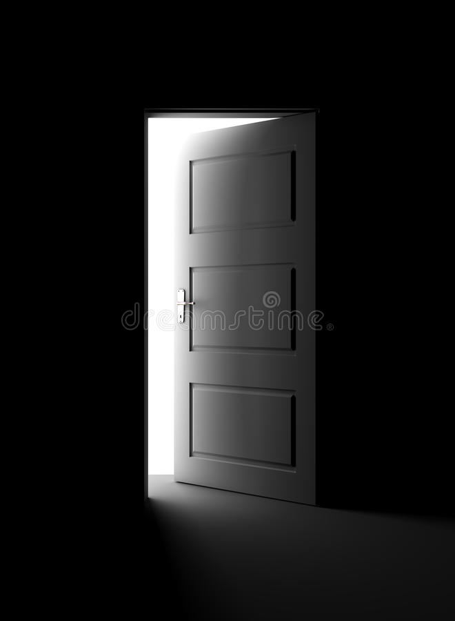 Otwarte drzwi w zmroku obraz royalty free