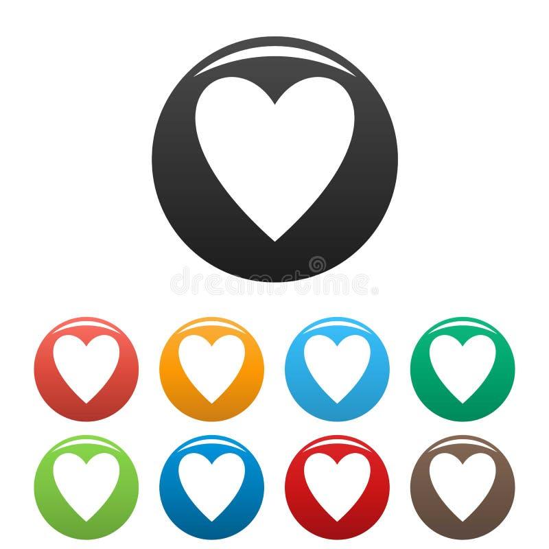 Otwarte kierowe ikony ustawiający kolor ilustracja wektor