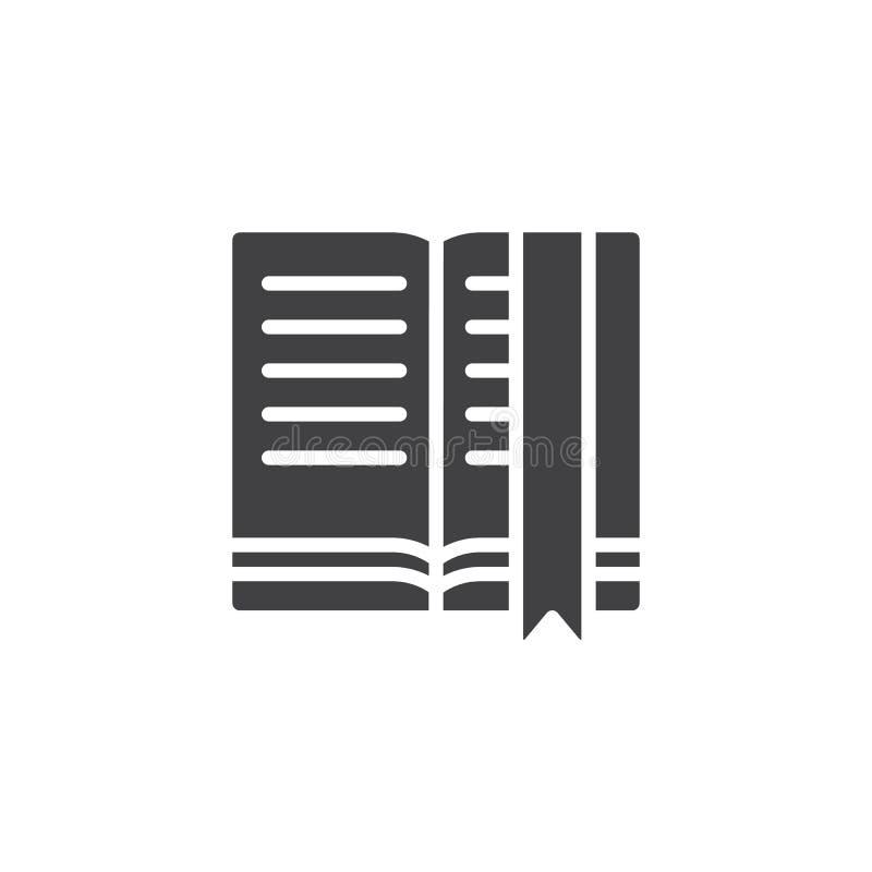 Otwarte książek strony i bookmark wektoru ikona ilustracja wektor