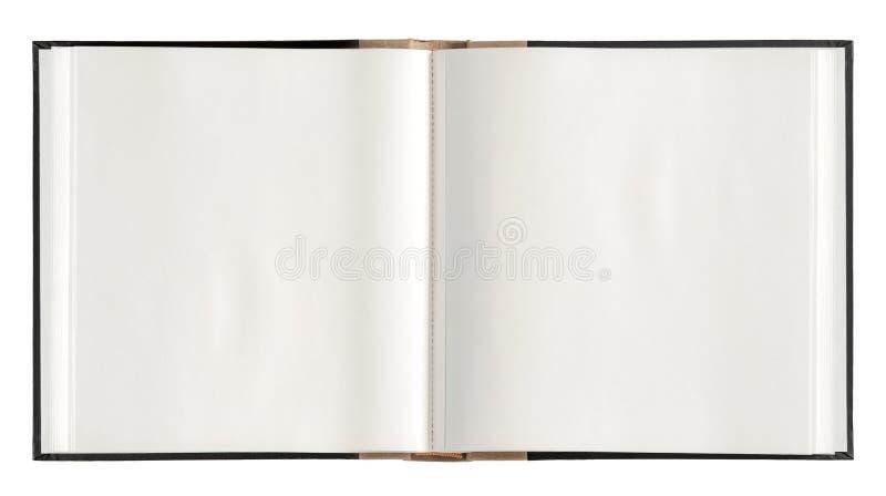 Otwarte książka papieru strony odizolowywali białego tło obraz royalty free
