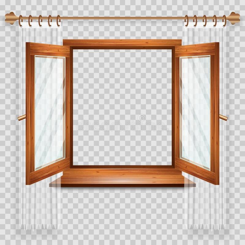 otwarte okno royalty ilustracja