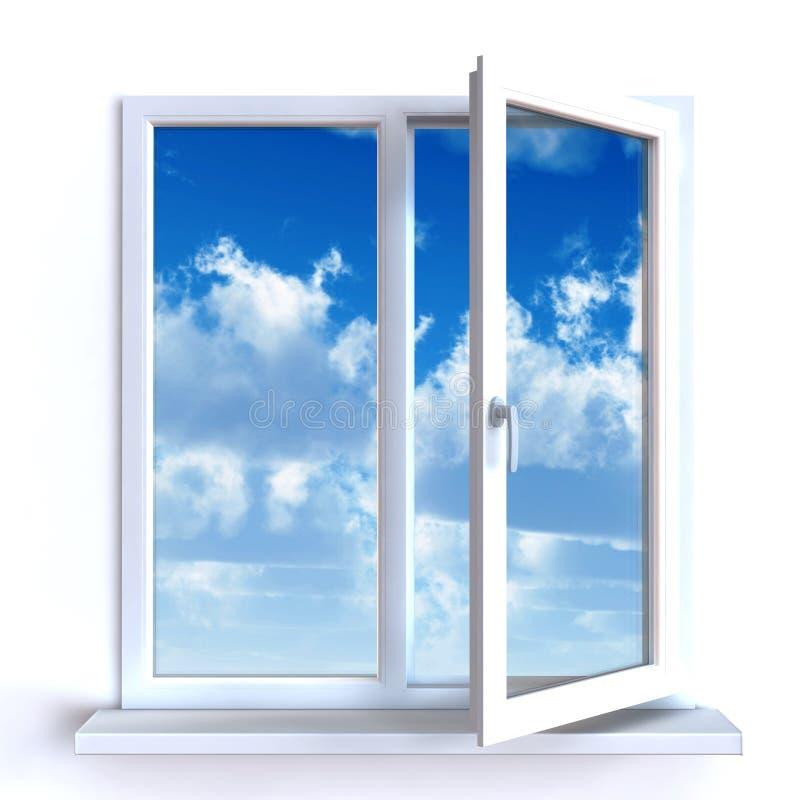 otwarte okno ilustracji