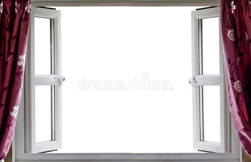 Otwarte okno bielu tło obraz stock