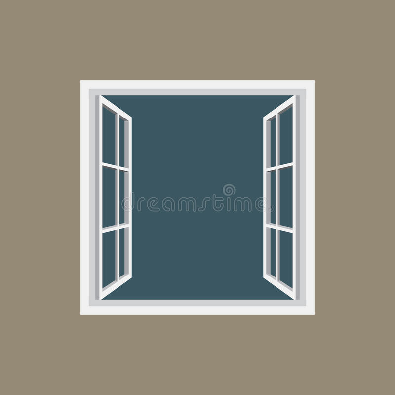 Otwarte okno ramowa ikona ilustracja wektor