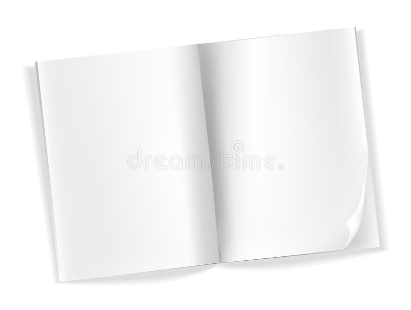 Otwarte puste magazyn strony ilustracja wektor