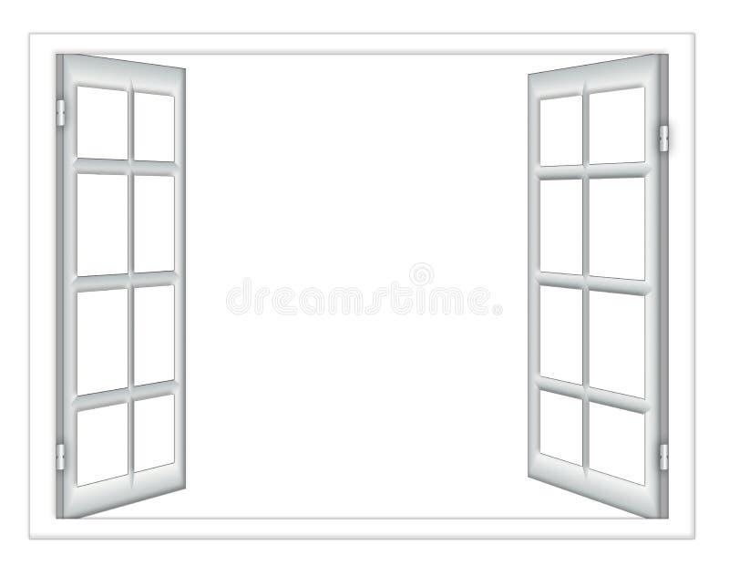 Otwartego okno odosobnienie ilustracji