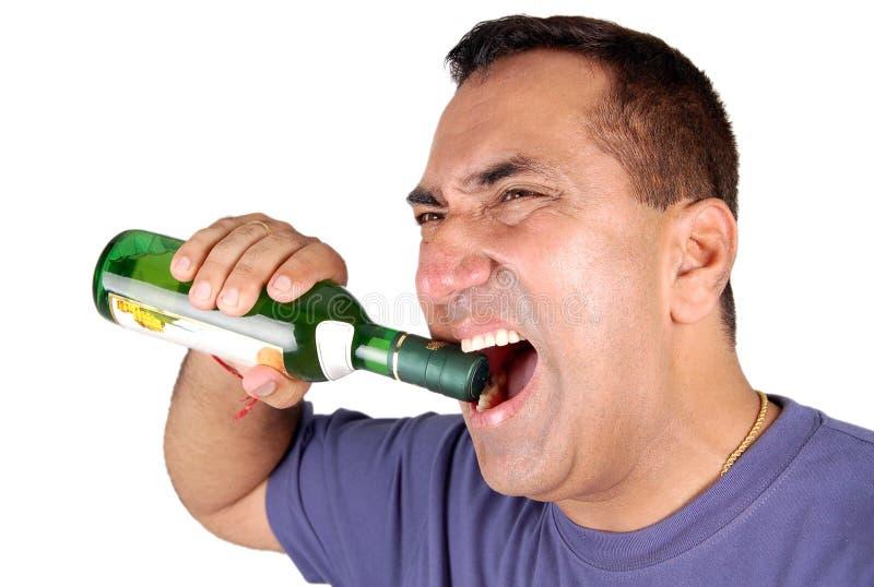 otwarty butelki wino fotografia stock