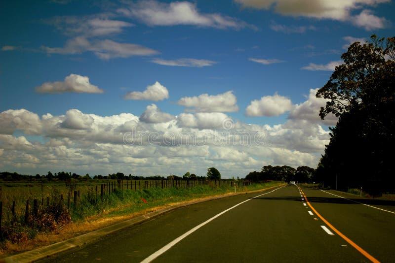 Otwarty droga krajobraz fotografia royalty free