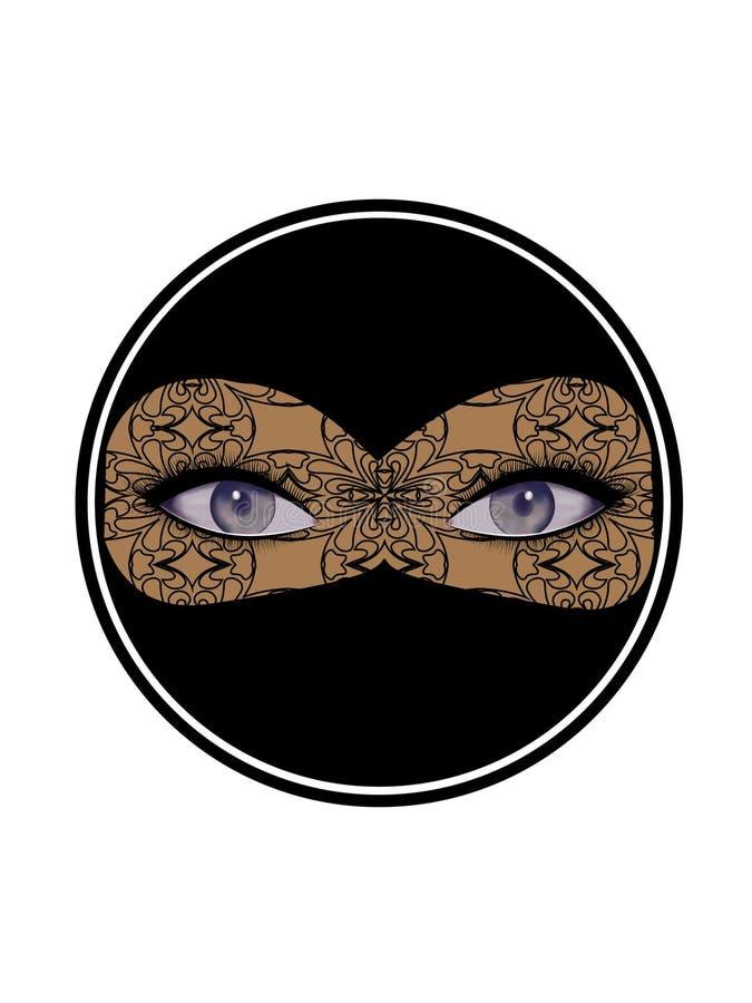 Otwarty kobiecy spojrzenie, oczy z kilka cieniami marengo, szarozielona herbata, szafir, kobalt royalty ilustracja