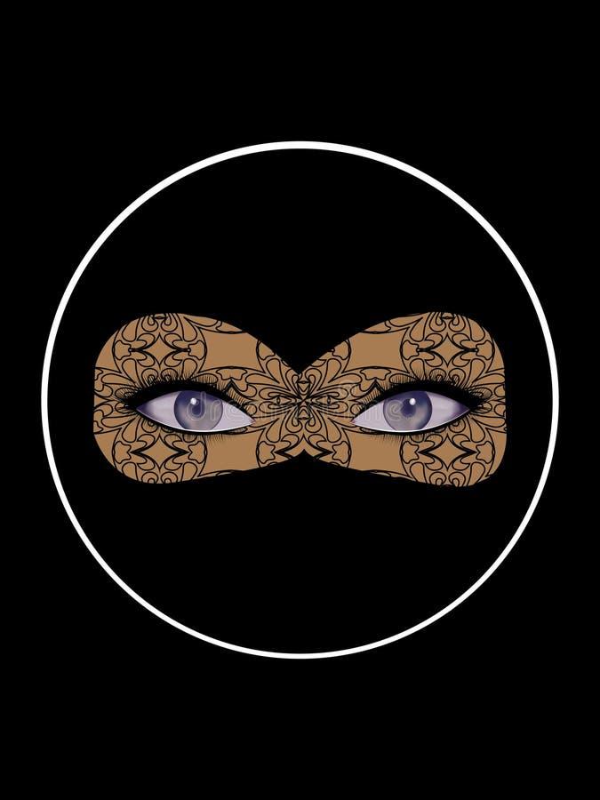 Otwarty kobiecy spojrzenie, oczy z kilka cieniami marengo, szarozielona herbata, szafir, kobalt ilustracja wektor