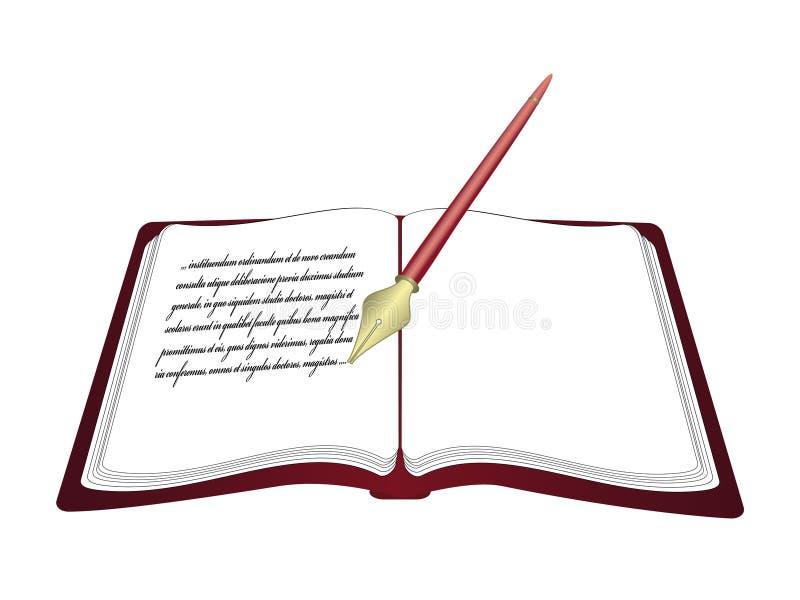 otwarty książka wektor royalty ilustracja
