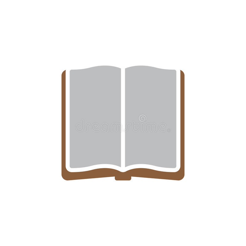 Otwarty książkowy ikona wektor, wypełniający mieszkanie znak, stały kolorowy piktogram odizolowywający na bielu ilustracji