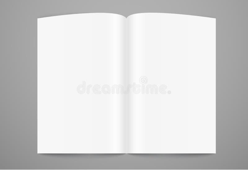 Otwarty książkowy strona szablon royalty ilustracja