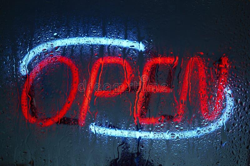 otwarty neon znak zdjęcie stock