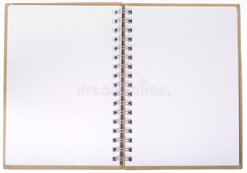 Otwarty notatnik z pustymi stronami obraz royalty free