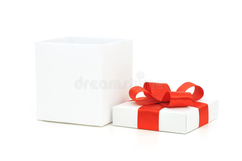 otwarty pudełkowaty prezent zdjęcie stock