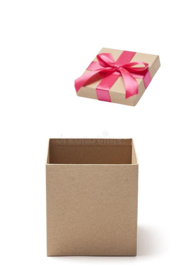 otwarty pusty pudełko prezent fotografia royalty free