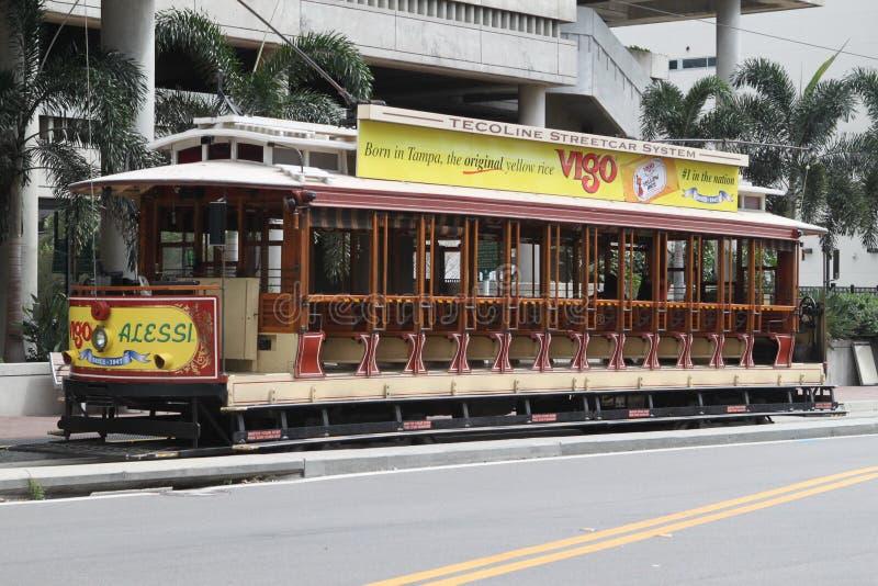Otwarty Tampa Tramwaj zdjęcie stock