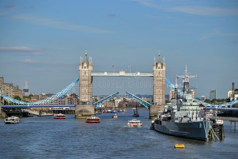 Otwarty wierza most Londyn obrazy royalty free