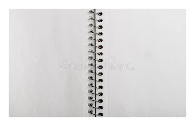 Otwiera ślimakowatego notatnika fotografia stock
