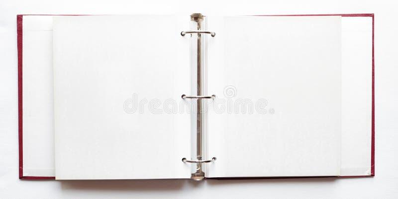 Otwiera album fotograficznego, puste strony zdjęcia royalty free