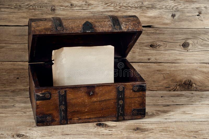 Otwiera antykwarskiego bagażnika obraz royalty free
