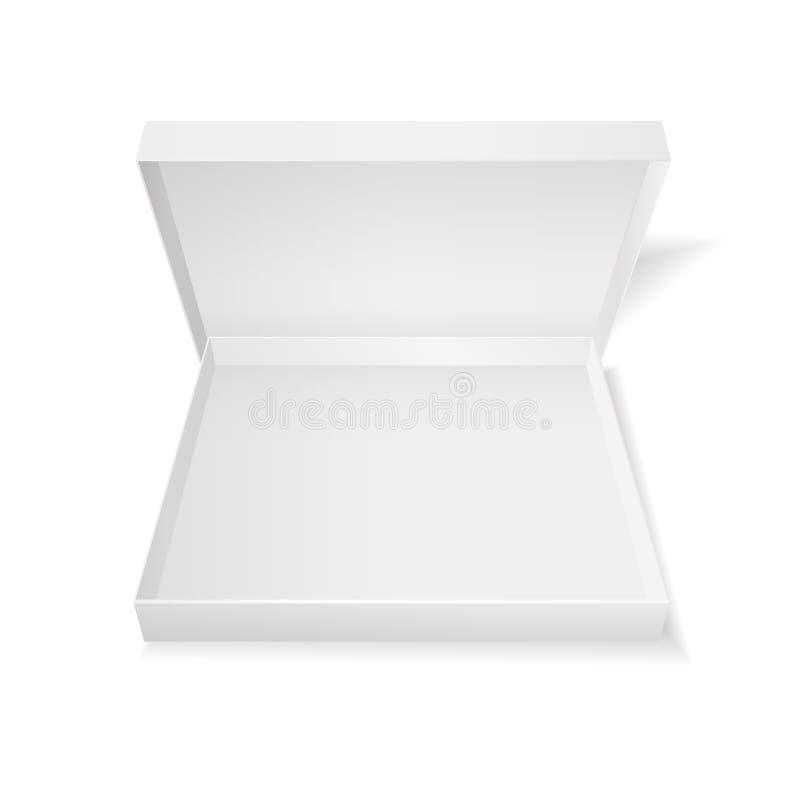 Otwiera białego pizzy pudełko ilustracja wektor