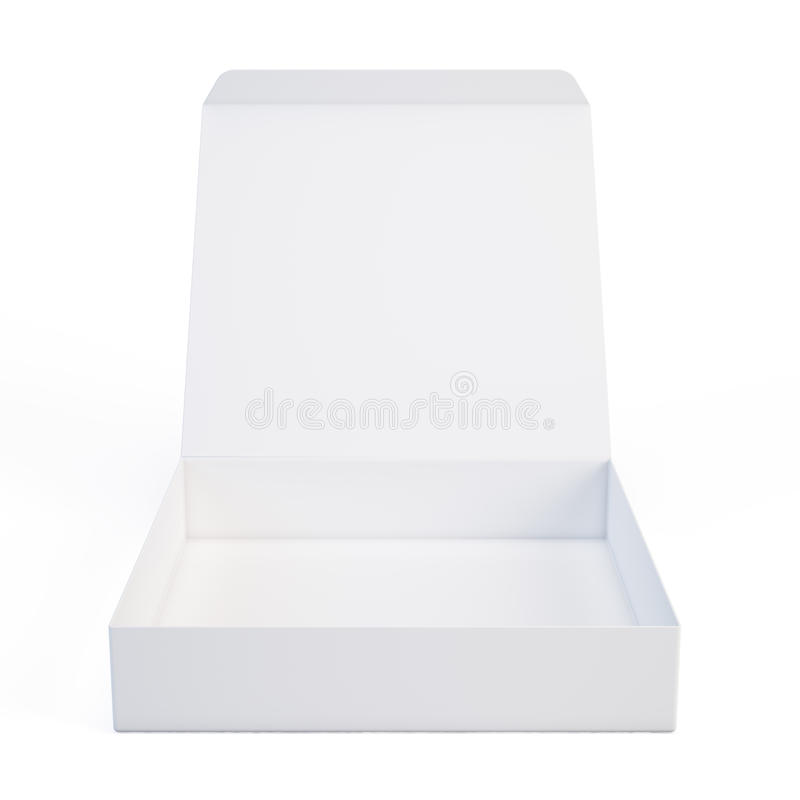 Otwiera białego pudełko ilustracja wektor