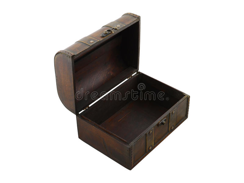 Otwiera brown drewnianego kaseton fotografia royalty free