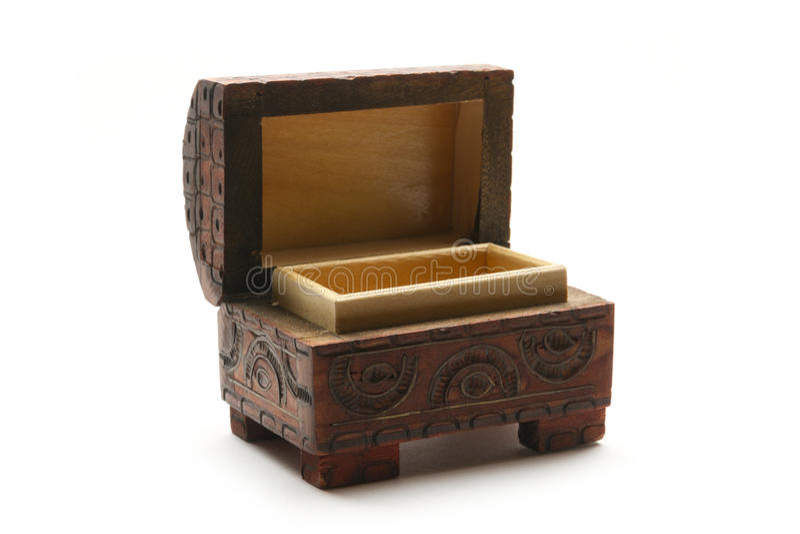 Otwiera drewnianego kaseton obraz royalty free