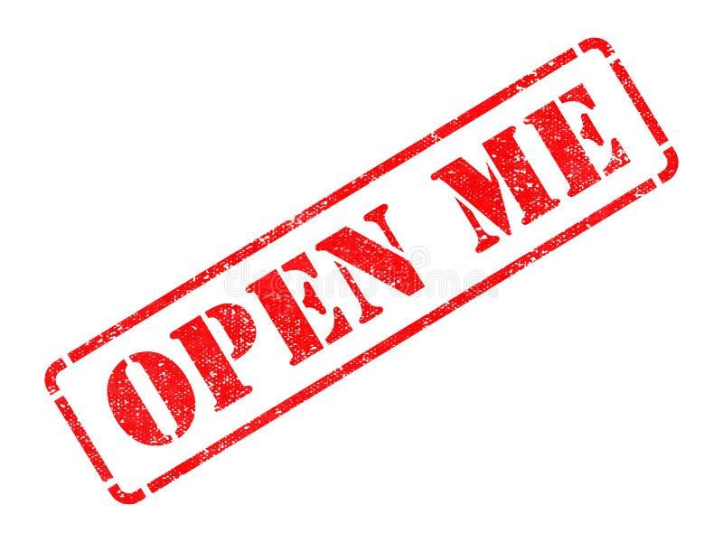 Otwiera Ja - Czerwona pieczątka. zdjęcie royalty free