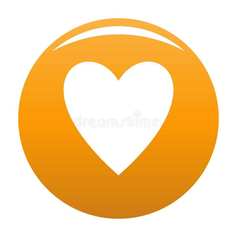 Otwiera kierowej ikony pomarańcze ilustracji