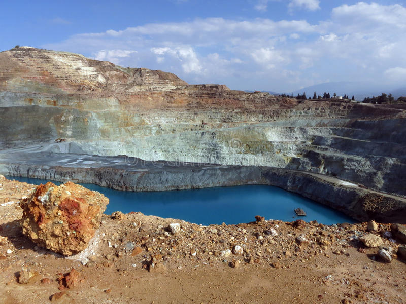 Otwiera kopalni miedzi obraz stock