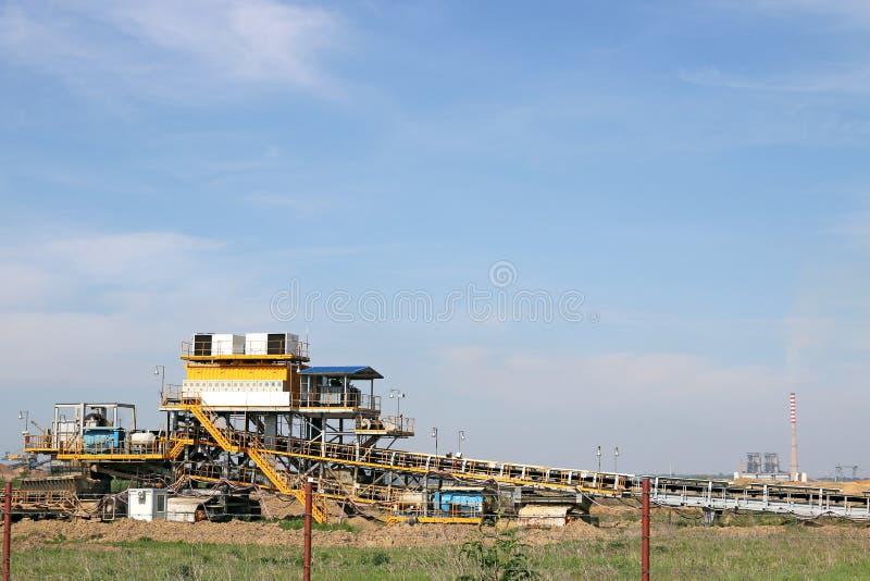 Otwiera kopalni węgla i elektrowni zdjęcie royalty free