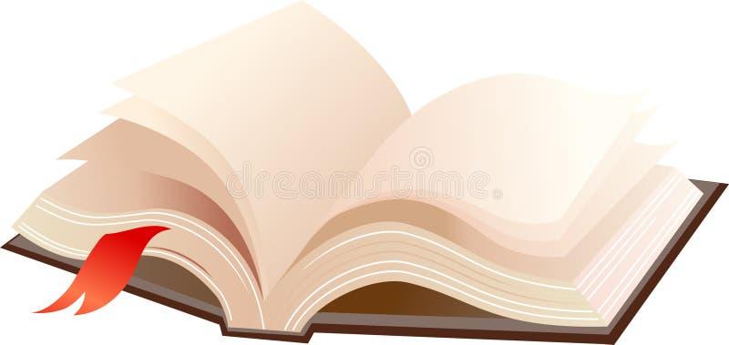 Otwiera książkę royalty ilustracja