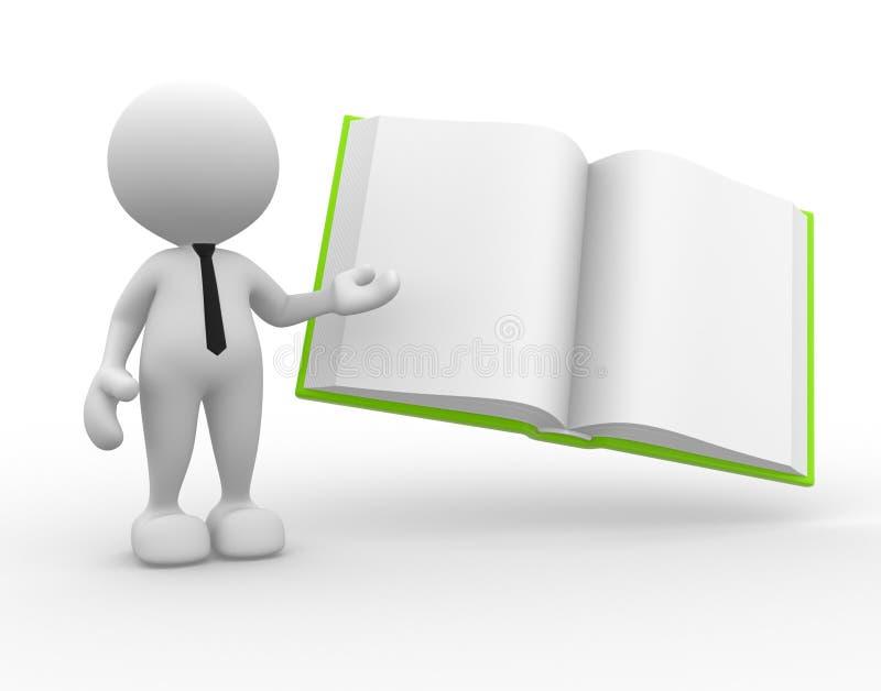 Otwiera książkę ilustracji