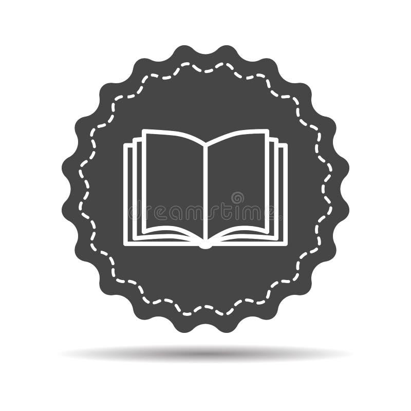 Otwiera książkową ikonę royalty ilustracja