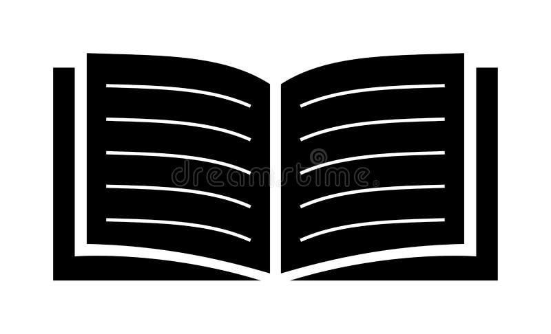 Otwiera książkową ikonę ilustracja wektor